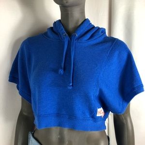 Hollister cropped hoodie small blue light-weight